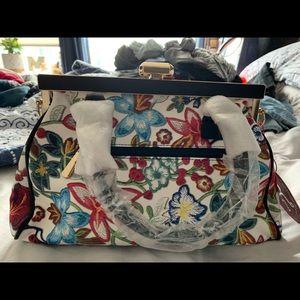 Women's floral handbag NWT